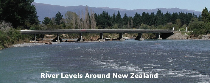 River levels for new zealand rivers that are monitored.